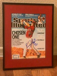 Bryce Harper framed signed/autographed 8x10 Sports Illustrated cover JSA LL81688