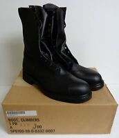 New U.S. Military Steel Toe Leather Climber Lineman Motorcycle Biker Boots 11.5R