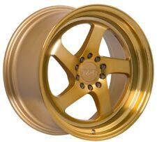 18X8.5 +35 F1R F28 5X120 GOLD RIM FIT BMW Z4 X1 325 335I Gto G8 Camaro ACURA TL