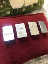 Joblot Vintage Zippo Lighters Including Snap On Tools + 1 Other