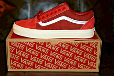 Vans for J.Crew Old Skool Sneakers Shoes Limited Edition Red NEW Men's US 9.0 D