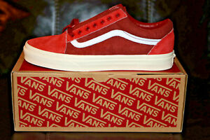 Vans for J.Crew Old Skool Sneakers Shoes Limited Edition Red NEW Men's US 8.0 D