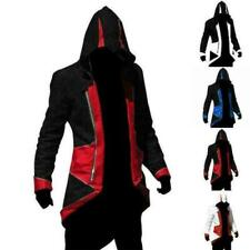 Men Hoodie Jacket Coat boy Kenway Assassins Creed 3 Connor Cosplay Costume Party