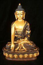 Gold Buddha statue Resin 22cm