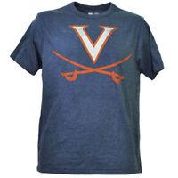 NCAA Virginia Cavaliers Distressed Navy Blue Mens Tshirt Tee Short Sleeve Adult
