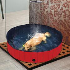 Portable Folding Pet Dog Swimming Pool Bath Bathing Animal Washing 160*160*30CM