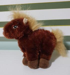 GANZ  BROWN HORSE PLUSH TOY SOFT TOY WEBKINZ 18CM TALL STUFFED ANIMAL