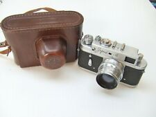 ZORKI 4 RANGEFINDER CAMERA + f2 50mm JUPITER 8 LENS+ CASE. SPARES OR REPAIR