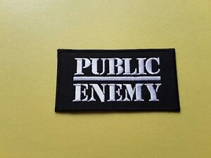 Public Enemy Patch Embroidered Iron On Or Sew On Badge