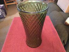 large green glass vase