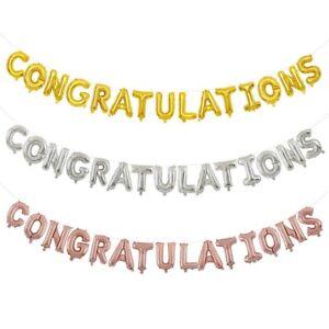 "Congratulations foil balloon 16"" Letter banner party"