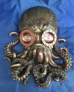 Steampunk Bioctopus Nemesis Now New Boxed Ornament Wall Mountable Octopus