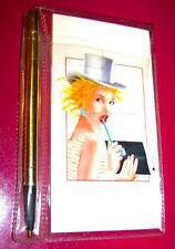 POPCORN 80s italy - mini address book + pencil - rubrica con matita misb
