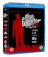 The ULTIMATE GANGSTERS 5 MOVIE BLU RAY AL PACINO JOHNNY DEPP CASINO SCARFACE +