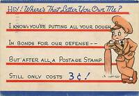 WWII World War Two Soldier Postcard mailed from Naval Hospital 1942