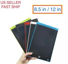 "8.5'' 12"" inch LCD Writing Drawing Tablet Pad eWriter Notepad Boogie Board"