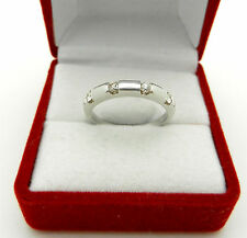 Solid 14k White Gold Real Diamonds  0.28 tcw Anniversary Wedding Ring Band