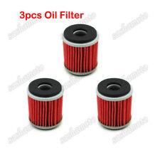 3x Oil Filter For Yamaha YZ250 XT250 YFZ450 YZ250F YZ450F YBR250 WR250F WR250R