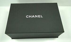 Authentic Chanel Magnetic Gift Box 13.5x10x5 with Ribbon,Flower,Tissue & Papers