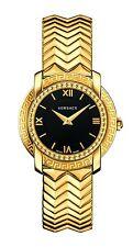Versace Women's VAM050016 DV-25 Round Lady IP Gold Steel Black MOP Dial Watch