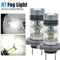 2pcs 12V H7 100W CREE LED Fog Tail Conduite Phare Lampe de Voiture Super Blanc