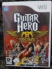 Wii jeu guitar Hero-Aerosmith avec mode d'emploi bon état + neuf dans sa boîte