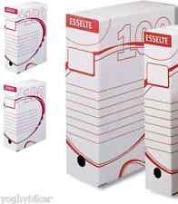 CF. 10 SCATOLE ARCHIVIO IN CARTONE ESSELTE BOXI 100 CM 25X35X10 SPESSORE