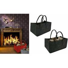"Firewood Carry Bag Log Tote Fireplace Log Carrier Holders Felt Bag 18x11x10"" HQ"