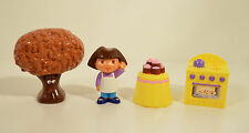 "2"" Dora The Explorer Go Adventure Kitchen Lot Chocolate Tree Baker Action Figure"