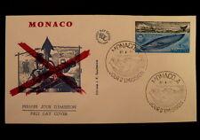 MONACO PREMIER JOUR FDC YVERT  1372      LES BALEINES       3,30F     1983