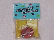 NOVELTY ERASER/RUBBER BASEBALL BOOTS /SHOES & BALL IN SEALED WRAPPER 1980s