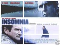 "Insomnia movie poster - Al Pacino, Robin Williams original UK Quad - 30"" x 40"""
