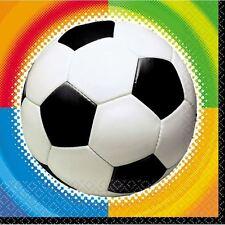 16pk Football Soccer Napkins Boys Girls Children's Birthday Party Table