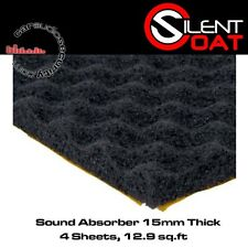 Silent Coat Absorber 15 - 4 Sheet Pack 50cm x 60cm Sound Absorber 15mm Thickness