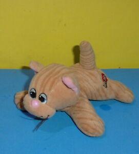"Pound Puppies Purries Plush Kitten Cat 7"" Orange Tiger Tabby Older Tonka"
