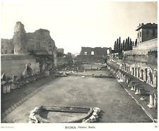 Roma, Palatino, Stadio Vintage silver print Tirage argentique d'époque
