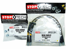 Stoptech Stainless Steel Braided Brake Lines (Front & Rear Set / 34007+34517)