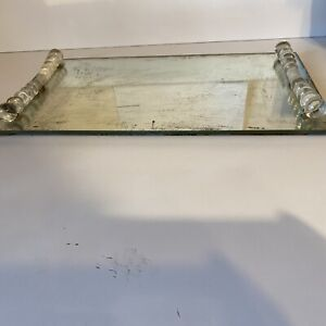 Vanity Tray - Antique Mirrored and Glass - 1920's