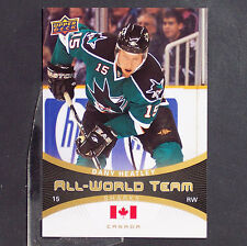 DANY HEATLEY  2010/11 Upper Deck All-World Team #AW11  San Jose Sharks  Canada