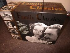 vintage 10 tape VHS movie Boxed Set FAMILY CLASSICS Heidi Snow White Rin Tin Tin