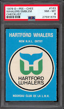 1979 OPC O PEE CHEE 163 HARTFORD WHALERS EMBLEM NHL ENTRY PSA 8 NM-MINT UNMARKED
