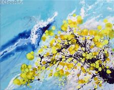 """New Original Abstract Floral Art, Acrylic Painting """"HuangMei #2"""" Artist Signed"""