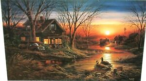 """TERRY REDLIN """"SHORELINE NEIGHBORS"""" HAND SIGNED LIMITED EDITION COLOR LITHOGRAPH"""