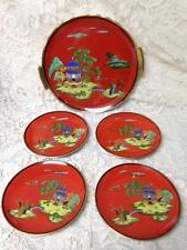 1914-1940 Noritake-Moriyama, Japan, Gaudy Blue Willow 5pc Snack or Cake Set