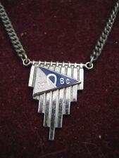 1935 Patented Cravat Holder w/ LM (Horseshoe) BC Boat Club? Blue & White BURGEE