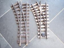 More details for 2 lgb 1210 g scale model railway brass track r1 left hand manual points