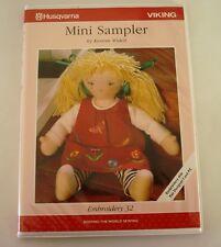 1998 HUSQVARNA VIKING Embroidery Floppy Ecard 32 Mini Sampler 35 Designs