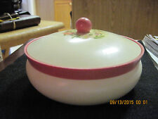 VTG. Avon To a Wild Rose Beauty Dust Plastic Container/Hand Made Pin Cushion