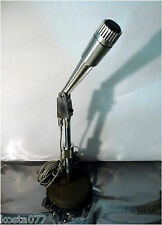 VINTAGE MONARCH TM-18 DYNAMIC MICROPHONE WITH STAND AND 15ft. CABLE