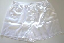 MEN'S WHITE SATIN SHORT SIZE LARGE $25.00